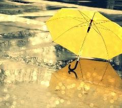 バックパッカーの持ち物傘