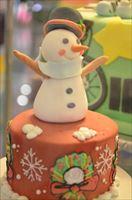 こども会でクリスマスケーキを